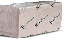 Полотенце бумажное, серое, V-сложение, макулатура,  1-но сл., 160 л/уп.