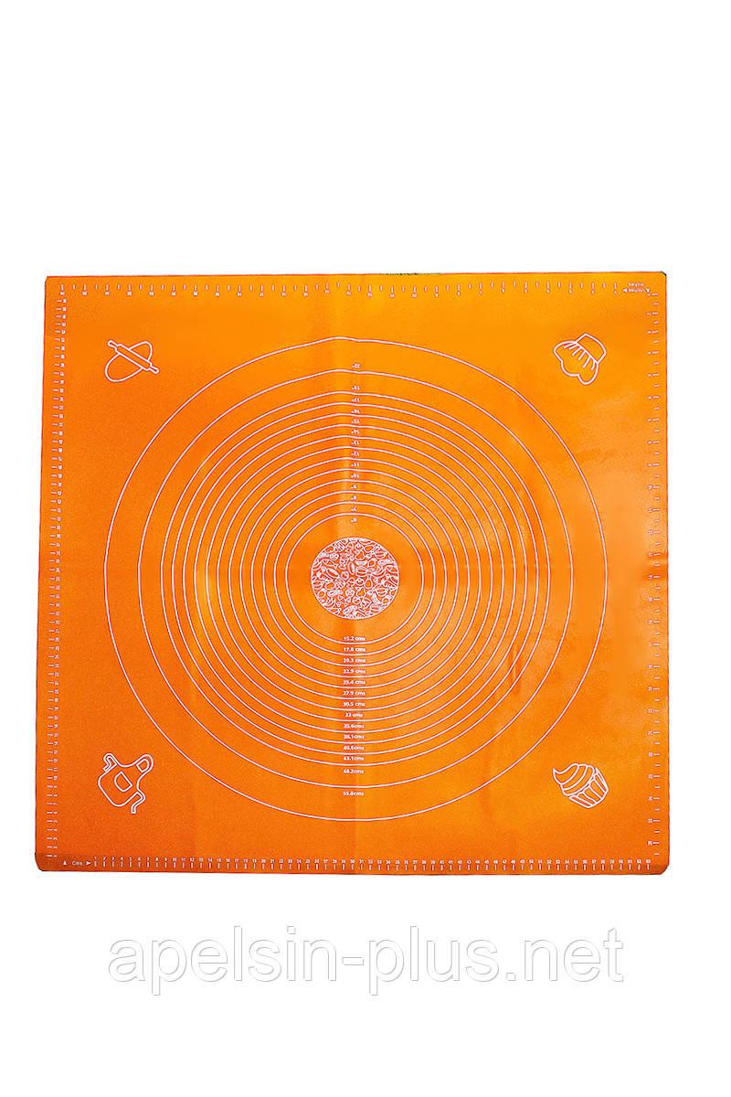 Профессиональный жаропрочный силиконовый коврик с разметкой 70 см 69,5 см