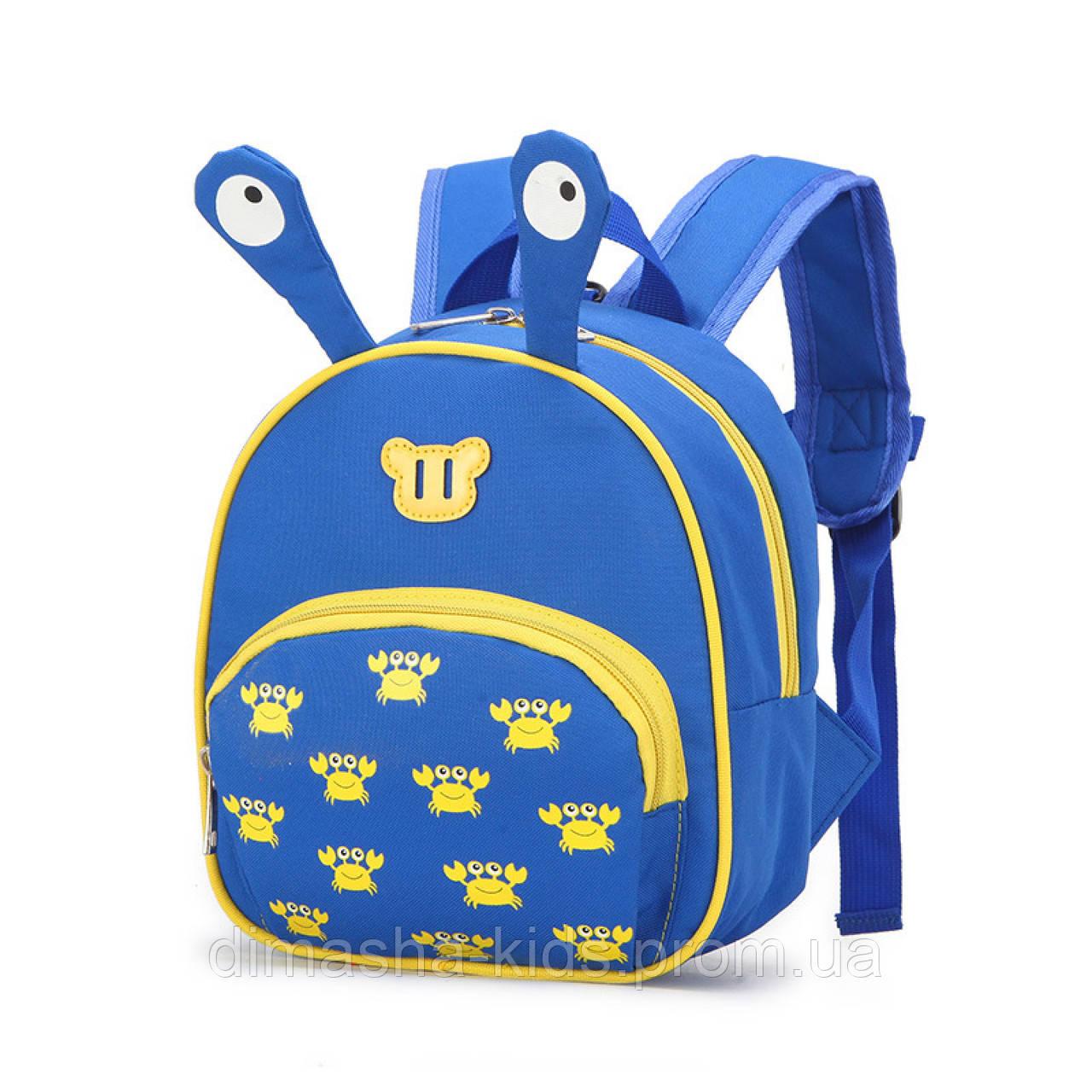 318eaee6605c ✓Рюкзак дошкольный, голубой. Краб.: продажа, цена в Полтаве. сумки ...