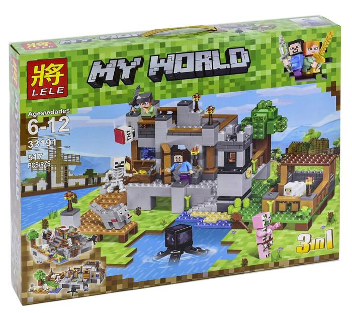 """Конструктор Lele 33191 Minecraft """"Береговая Цитадель"""" 517 деталей. Аналог Лего Майнкрафт"""