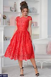 Вечернее платье дорогой гипюр с вышивкой размер 42,44,46