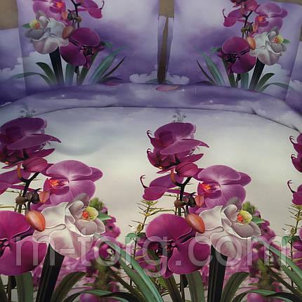 """""""Орхидеи""""Комплект постельного белья двуспальный 180/220, нав-ки 70/70, ткань поплин, 100% состоит из хлопка , фото 2"""