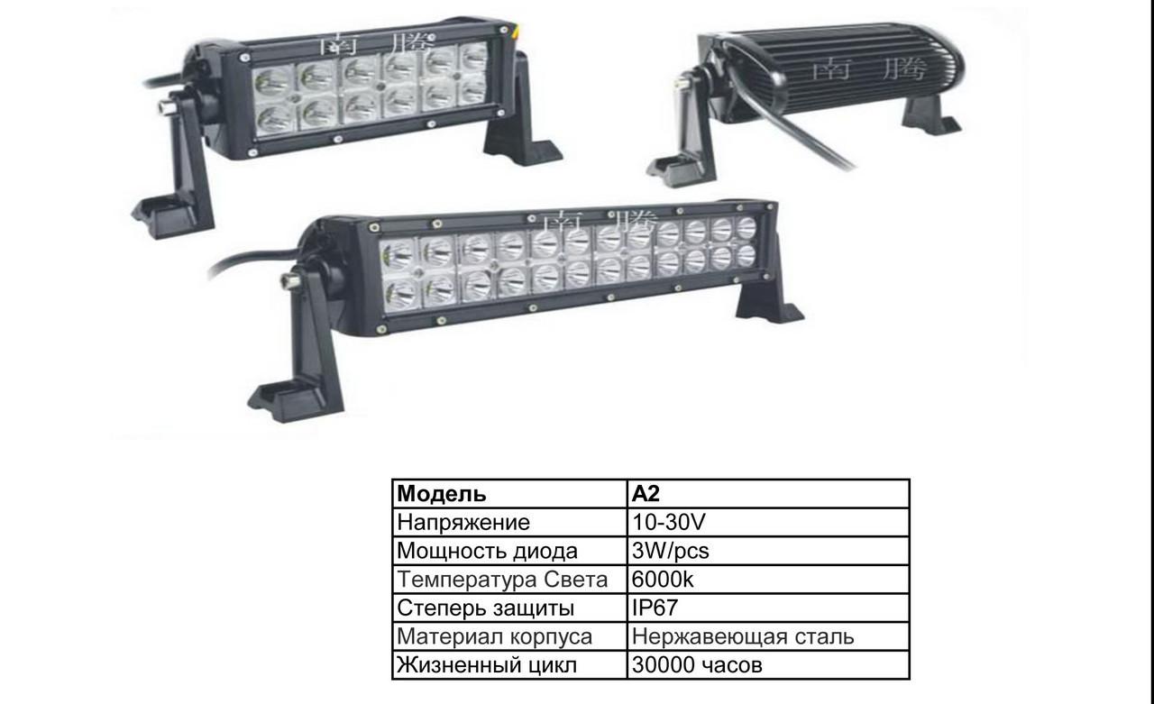 Дополнительные светодиодные фары ближнего и дальнего света  А2-180W Combo