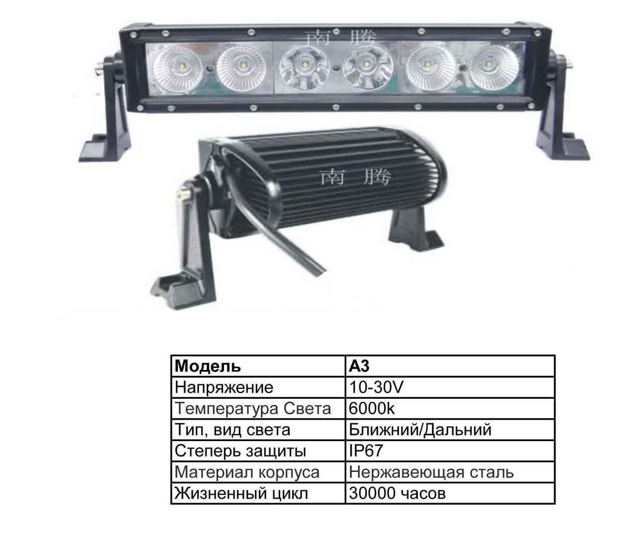 Дополнительные светодиодные фары дальнего света  А3-200W