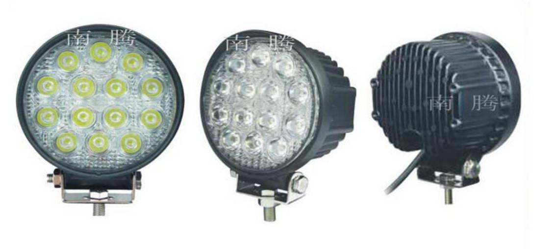 Дополнительные светодиодные фары дальнего света  27-42W Yellow