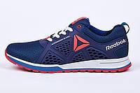 Мужские летние кожаные синие кроссовки Reebok 40,41,42,43,44,45