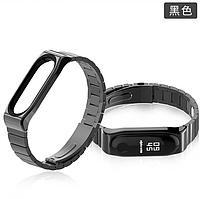 Ремешок MiJobs Metal Pro для Xiaomi Mi Band 3 / 4 Black (Черный)