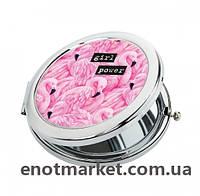 "Зеркало карманное косметическое ""Фламинго"", фото 1"
