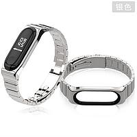 Ремешок MiJobs Metal Pro для Xiaomi Mi Band 3 / 4 Silver (Серебряный)