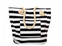 Пляжная текстильная сумка в морском стиле в полоску