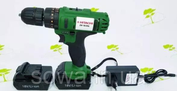 ✔️ Шуруповерт Hitachi DV 18DSL | 18 В, 30 Н·м | УДАРНЫЙ  |  Румынская сборка