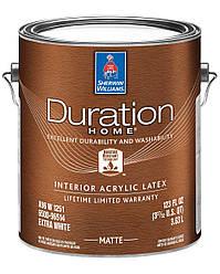 Краска Duration Home Matte Sherwin-Williams интерьерная экстра белая матовая, 3,63л (дюрейшн шервин вильямс)
