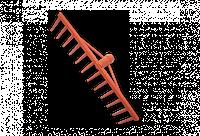 Грабли ПВХ - 12 зубцов, без черенка, KTG112