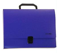 Портфель пластиковый А4 на застежке, 1 отделение, фиолетовый