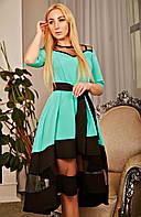 Торжественное платье с пышной юбкой мятное размер 42-52