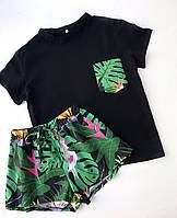 Пижама футболка и шорты L-XL попугай