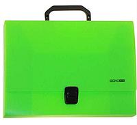 Пластиковый портфель А4 на застежке, 1 отделение, салатовый