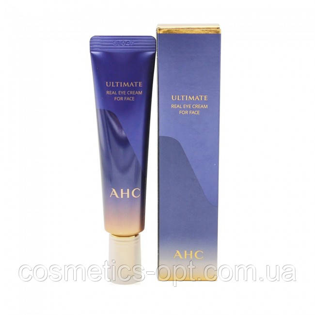Премиальный крем для век и лица с комплексом пептидов A.H.C.Ultimate Real Eye Cream for Face 30 мл