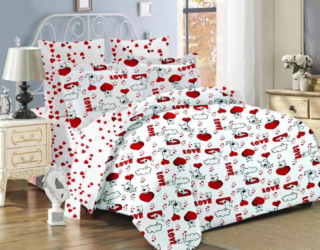 Двуспальный комплект постельного белья евро 200*220 хлопок  (11589) TM KRISPOL Украина