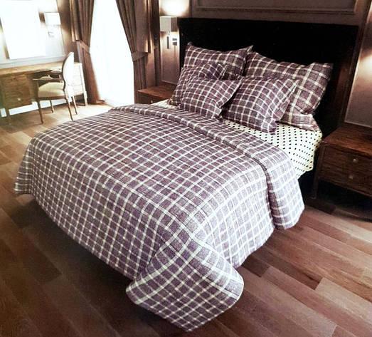 Двуспальный комплект постельного белья евро 200*220 хлопок  (11590) TM KRISPOL Украина, фото 2
