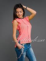 Блуза летняя персиковая, фото 1