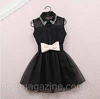 Платье с бантом. Черное ., фото 1