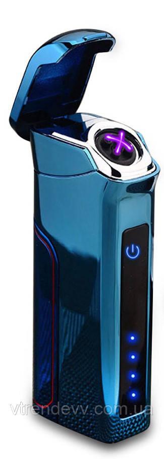 Зажигалка с двойной дугой со съемным аккумулятором, синяя
