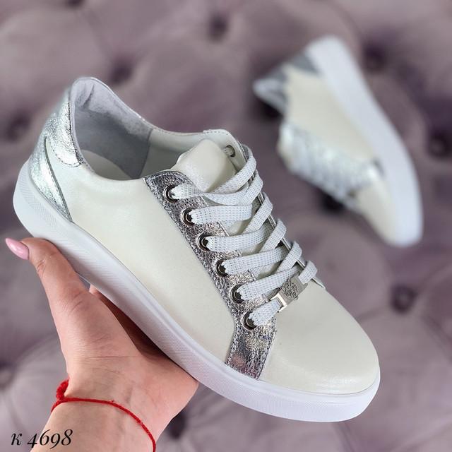3ea850ba Стильные женские кеды белые с напылением, цена 930 грн., купить в ...