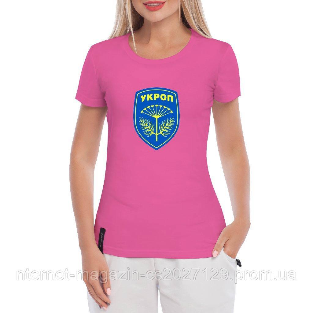 Футболка жіноча з логотипом Укроп