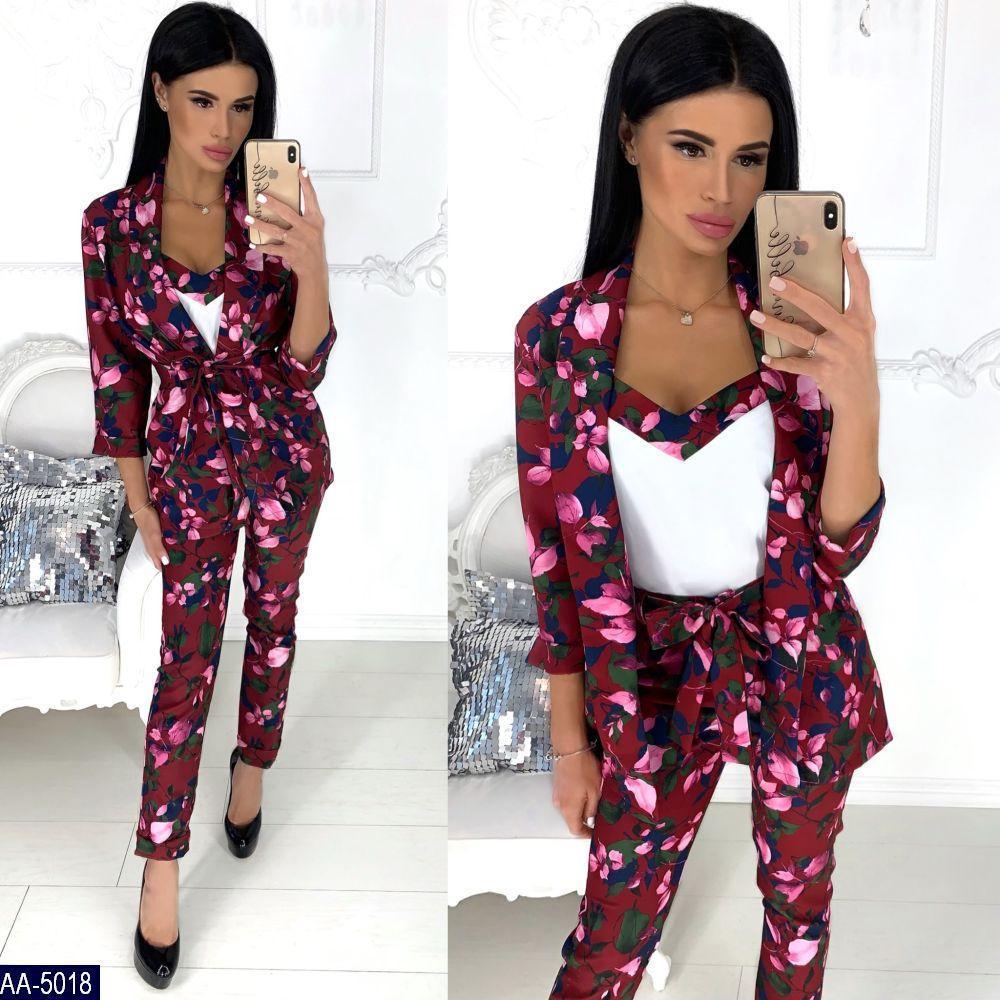 0e5886bc450 Женский костюм тройка (пиджак+майка+брюки) новинка 2019 - Интернет- магазин