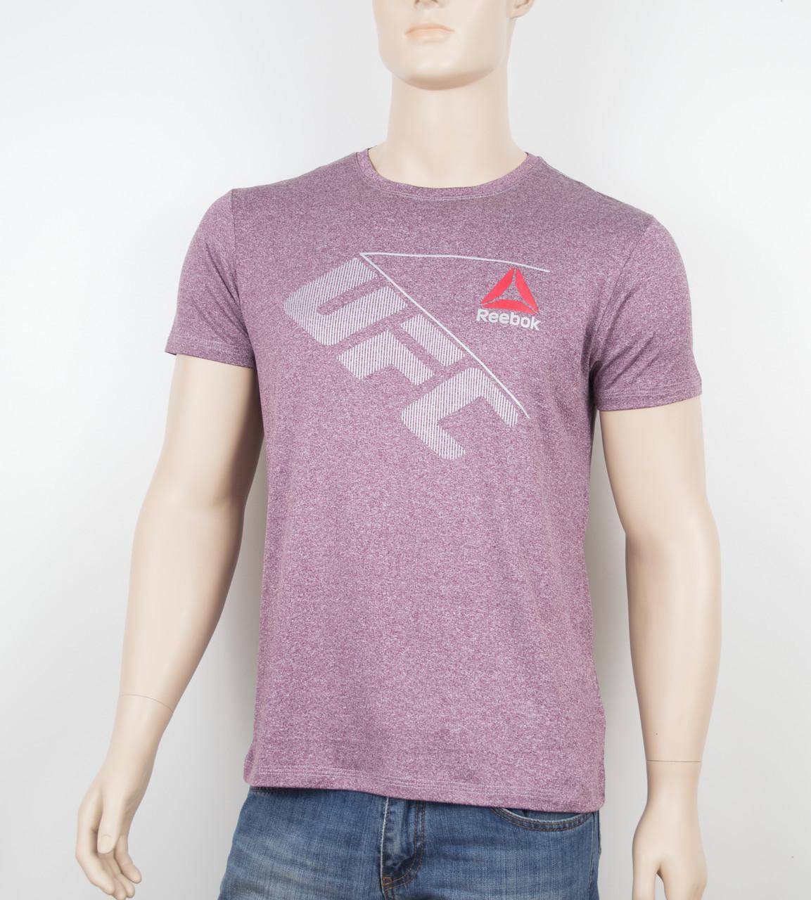 """Мужская футболка """"Вискоза"""" Reebok 1901 бордо"""