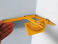 Кутомір, малий пластиковий вимірювач кута з фіксатором, фото 1