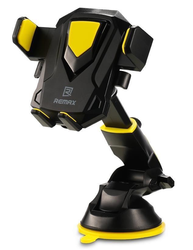 Автомобильный держатель для смартфонов Remax Transformer Holder black+yellow