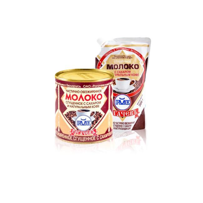 Белорусское сгущенное молоко с кофе Рогачев
