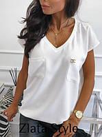 Блузка женская с коротким рукавом , фото 1