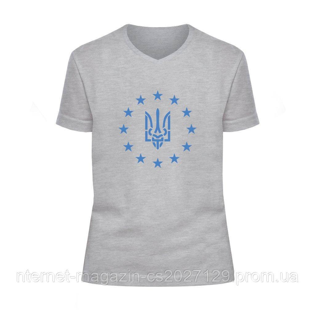 """Футболка детская V-вырез """"Украина-Евросоюз"""""""