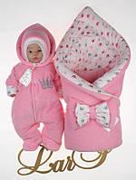 """Набор на выписку из роддома """"Принцесса"""" для девочки. Розовый"""