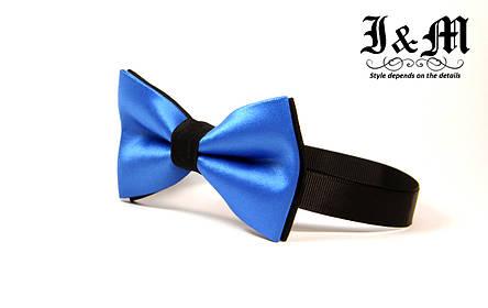 Галстук-бабочка i&m (00092) Blue&Black, фото 2