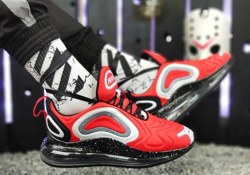 58e39784 Мужские кроссовки Nike Air Max 720 red black (Найк Аир Макс 720, красные /