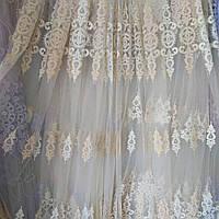 Тюль турецкая занавески портьеры шторы сублимация тюль-1414, фото 1