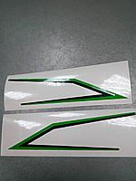 Заказ покупателя на изготовление наклеек УГОЛКИ НА МОТОЦИКЛ  22х5,5 см