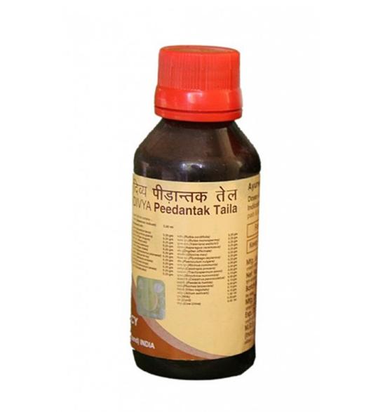 Масло массажное лечебное Пидантак таил,Divya Pharmacy, 100 мл-для суставов и позвоночника
