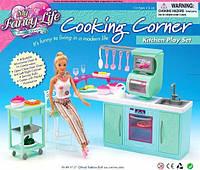 Кукольная мебель Gloria Глория 2816 Современная кухня Барби плита, духовка, мойка
