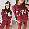 """Жіночий спортивний костюм """"VLTN"""" в кольорах, р-р 50-54. ТУ-3-1-0420, фото 7"""