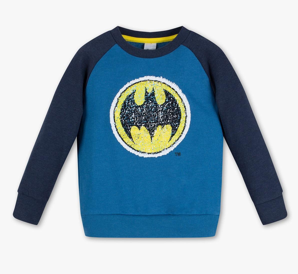 Свитшот Бэтмен для мальчика с меняющими пайетками C&A Германия Размер 122