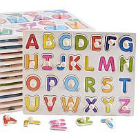Развивающая игра Алфавит  (английский алфавит сортер) деревянный пазл