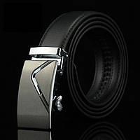 Ремень кожаный, пояс мужской с пряжкой автомат (006)