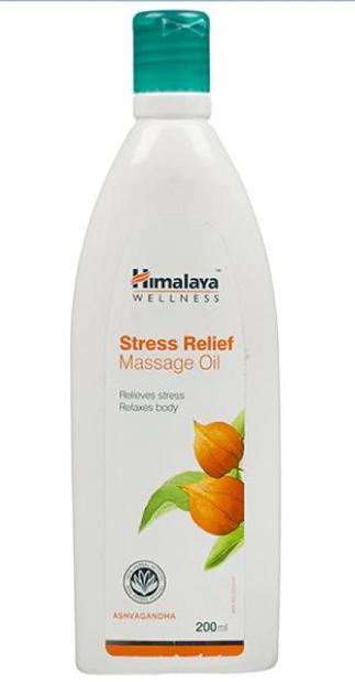 Масло массажное от стресса Himalaya Stress Relief Massage Oil, 200 мл.