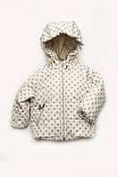 Демисезонная куртка для малышей с капюшоном, бежевая (от 6 мес до 1.5 )