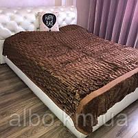Покривало Норка в спальню ALBO 200х230 см Шоколадне (P-A04-2), фото 5